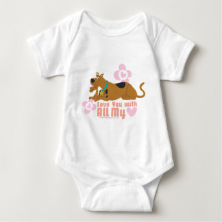 """Scooby Doo """"Love You With All My Heart"""" Baby Bodysuit"""