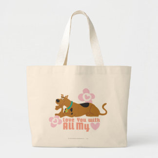 """Scooby Doo """"Love You With All My Heart"""" Jumbo Tote Bag"""
