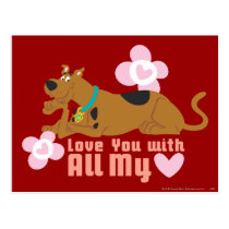 """Scooby-Doo """"Love You With All My Heart"""" Postcard"""