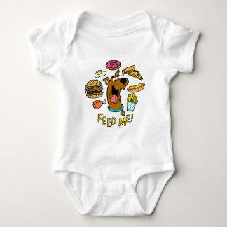 ¡Scooby-Doo me alimenta! Body Para Bebé