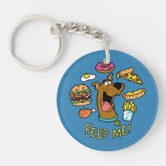 ¡Scooby-Doo me alimenta! Llavero Redondo Acrílico A Doble Cara