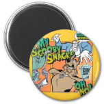 """Scooby Doo """"mis bocados """" 2 de Scooby Imán Redondo 5 Cm"""
