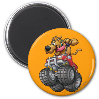 Scooby Doo Monster Truck1 2 Inch Round Magnet