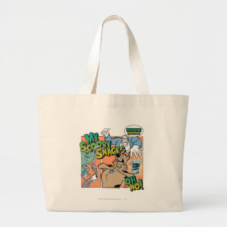 """Scooby Doo """"My Scooby Snacks""""2 Large Tote Bag"""
