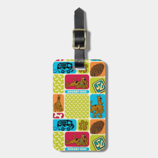 Scooby-Doo Mystery Pattern Bag Tag