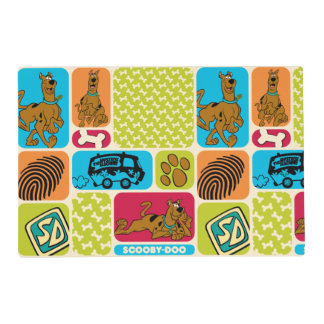 Scooby-Doo Mystery Pattern Laminated Place Mat
