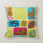 Scooby-Doo Mystery Pattern Throw Pillow