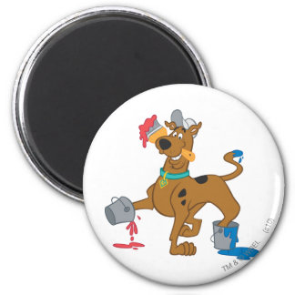 Scooby Doo Paint3 2 Inch Round Magnet