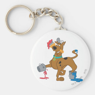 Scooby Doo Paint3 Llavero Redondo Tipo Pin