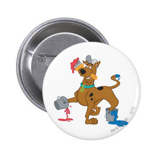 Scooby Doo Paint3 Pin Redondo De 2 Pulgadas