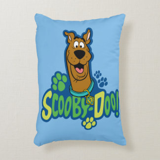 Scooby-Doo Paw Print Character Badge Decorative Pillow