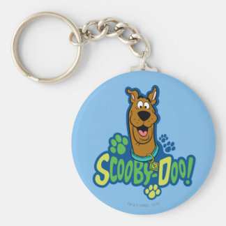 Scooby-Doo Paw Print Character Badge Keychain