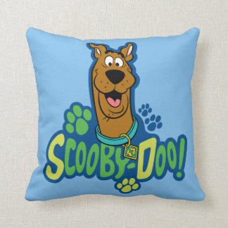 Scooby-Doo Paw Print Character Badge Pillow