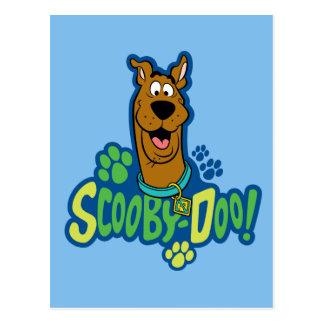Scooby-Doo Paw Print Character Badge Postcard