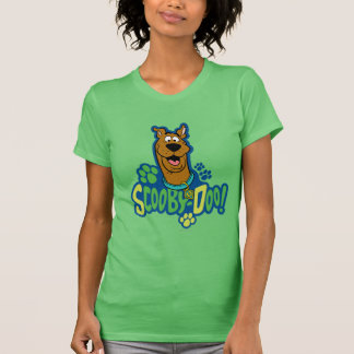 Scooby-Doo Paw Print Character Badge T-Shirt