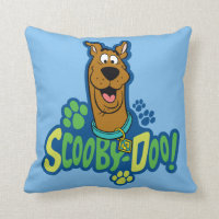 Scooby-Doo Paw Print Character Badge Throw Pillow