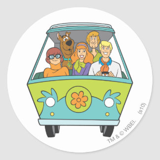 Scooby Doo Pose 71 Classic Round Sticker