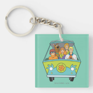 Scooby Doo Pose 71 Double-Sided Square Acrylic Keychain