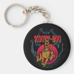 Scooby-Doo que corre de los fantasmas gráficos Llavero Redondo Tipo Pin