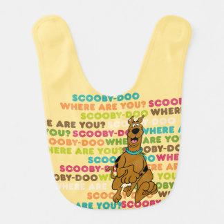 """¿Scooby-Doo que corre """"donde es usted? """" Baberos Para Bebé"""