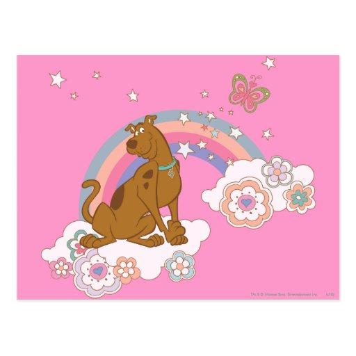 Scooby Doo Rainbow Butterfly2 Postcard