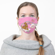 Scooby-Doo Rainbow Butterfly Adult Cloth Face Mask