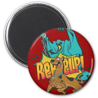 """Scooby Doo """"Reeeelp!"""" 2 Inch Round Magnet"""