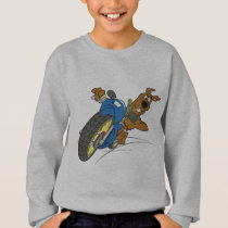 Scooby-Doo Riding Motorcycle Sweatshirt
