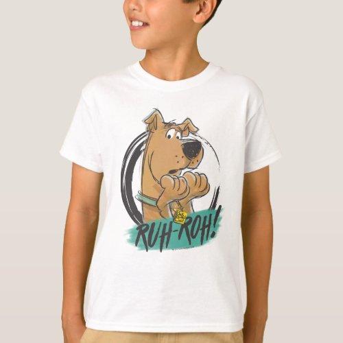 Scooby_Doo Ruh Roh Marker Sketch T_Shirt