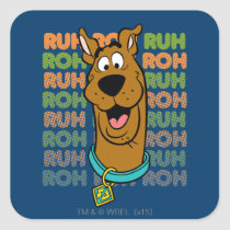 Scooby-Doo Ruh Roh Square Sticker