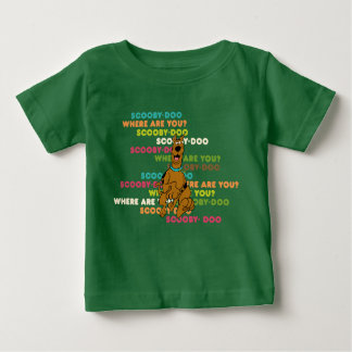 "Scooby-Doo Running ""Where Are You?"" Baby T-Shirt"