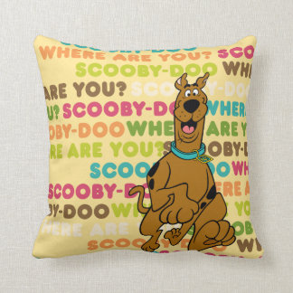 """Scooby-Doo Running """"Where Are You?"""" Pillow"""