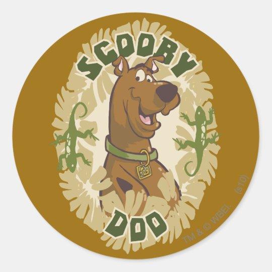 "Scooby Doo ""Scooby Doo"" Classic Round Sticker"