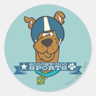 "Scooby Doo ""Scooby-Doo Sports"" Classic Round Sticker"