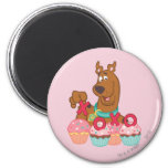 Scooby Doo - Scooby XOXO Cupcakes Magnets