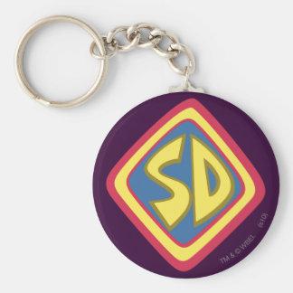 """Scooby Doo """"SD """" 1 Llavero Redondo Tipo Pin"""