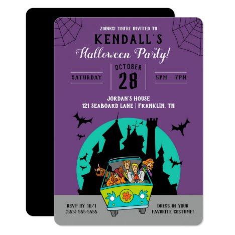 Scooby-Doo Spooktacular Halloween Party Invitation