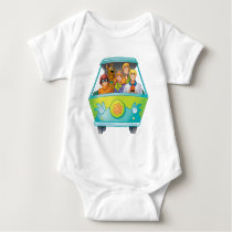 Scooby-Doo & The Gang Mystery Machine Airbrush Baby Bodysuit