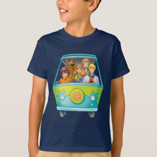Scooby Doo The Gang Mystery Machine Airbrush T Shirt