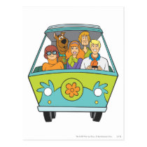 Scooby-Doo & The Gang Mystery Machine Postcard