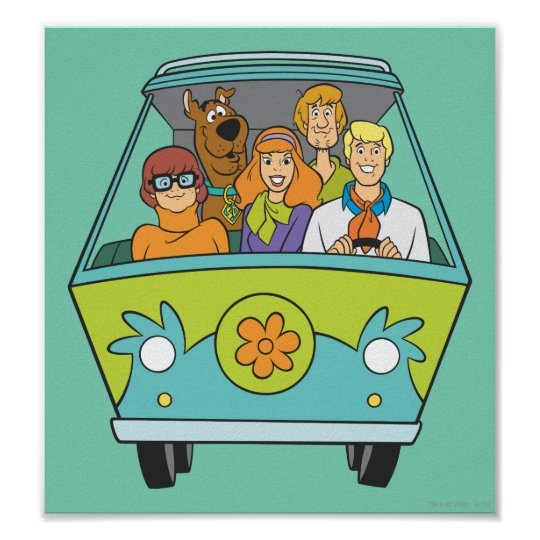 Scooby Doo Baby Shower Theme: Scooby-Doo & The Gang Mystery Machine Poster