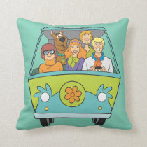 Scooby-Doo & The Gang Mystery Machine Throw Pillow