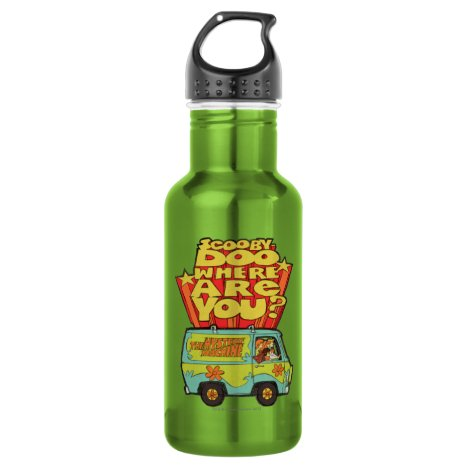 "Scooby-Doo | ""Where Are You?"" Retro Cartoon Van Stainless Steel Water Bottle"