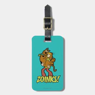 ¡Scooby-Doo y Zoinks lanudo! Etiqueta Para Equipaje