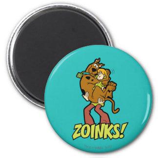 ¡Scooby-Doo y Zoinks lanudo! Imán Redondo 5 Cm