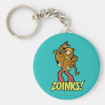 ¡Scooby-Doo y Zoinks lanudo! Llavero Redondo Tipo Pin