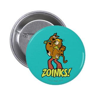 ¡Scooby-Doo y Zoinks lanudo! Pin Redondo De 2 Pulgadas