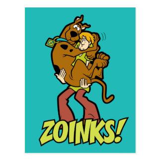 ¡Scooby-Doo y Zoinks lanudo! Postales
