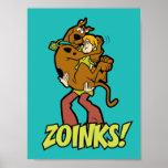 ¡Scooby-Doo y Zoinks lanudo! Póster