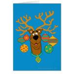 Scooby el reno tarjeta de felicitación
